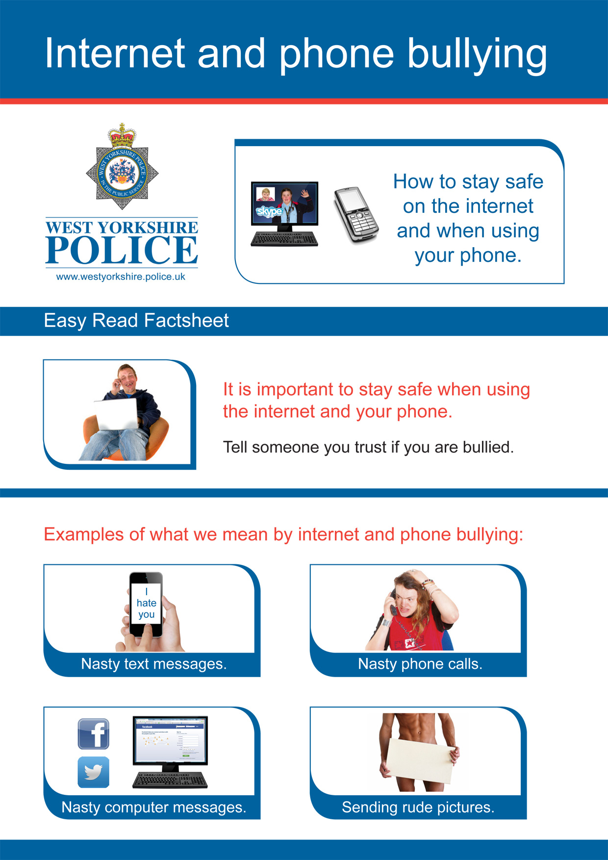 Easy Read - Internet Safety (PDF)