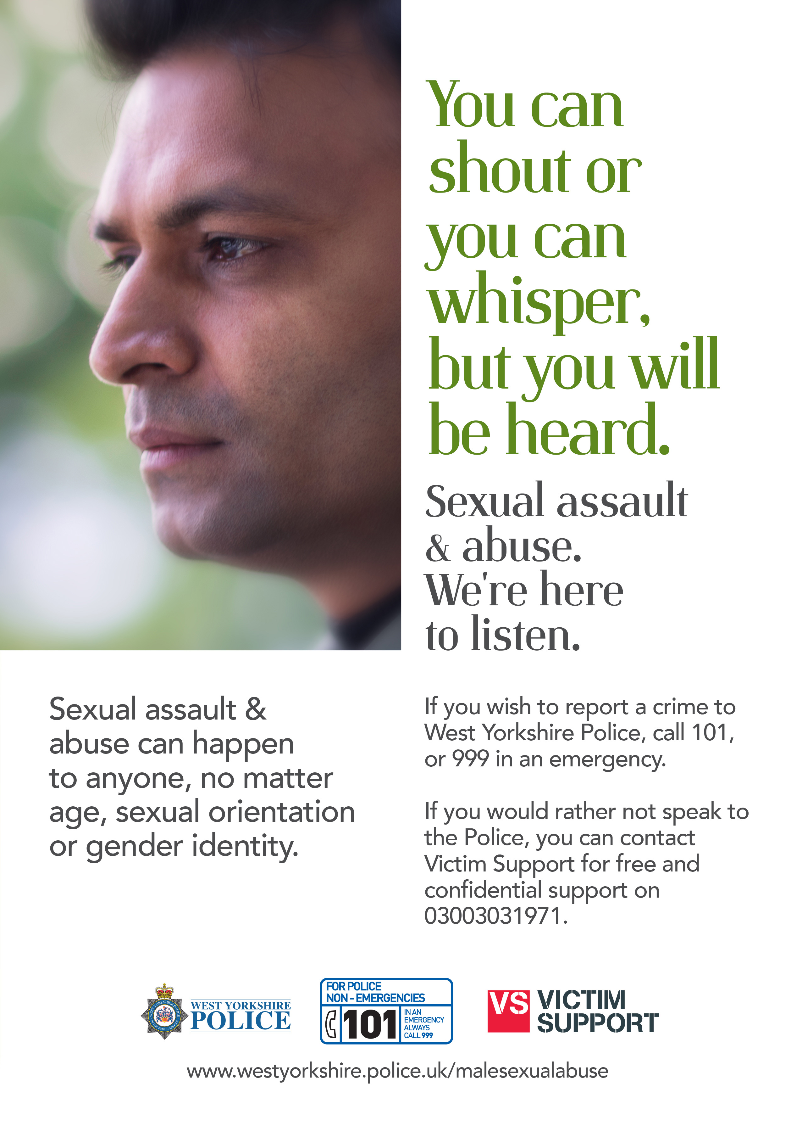 Male Victim Sexual Abuse Campaign - Poster 1
