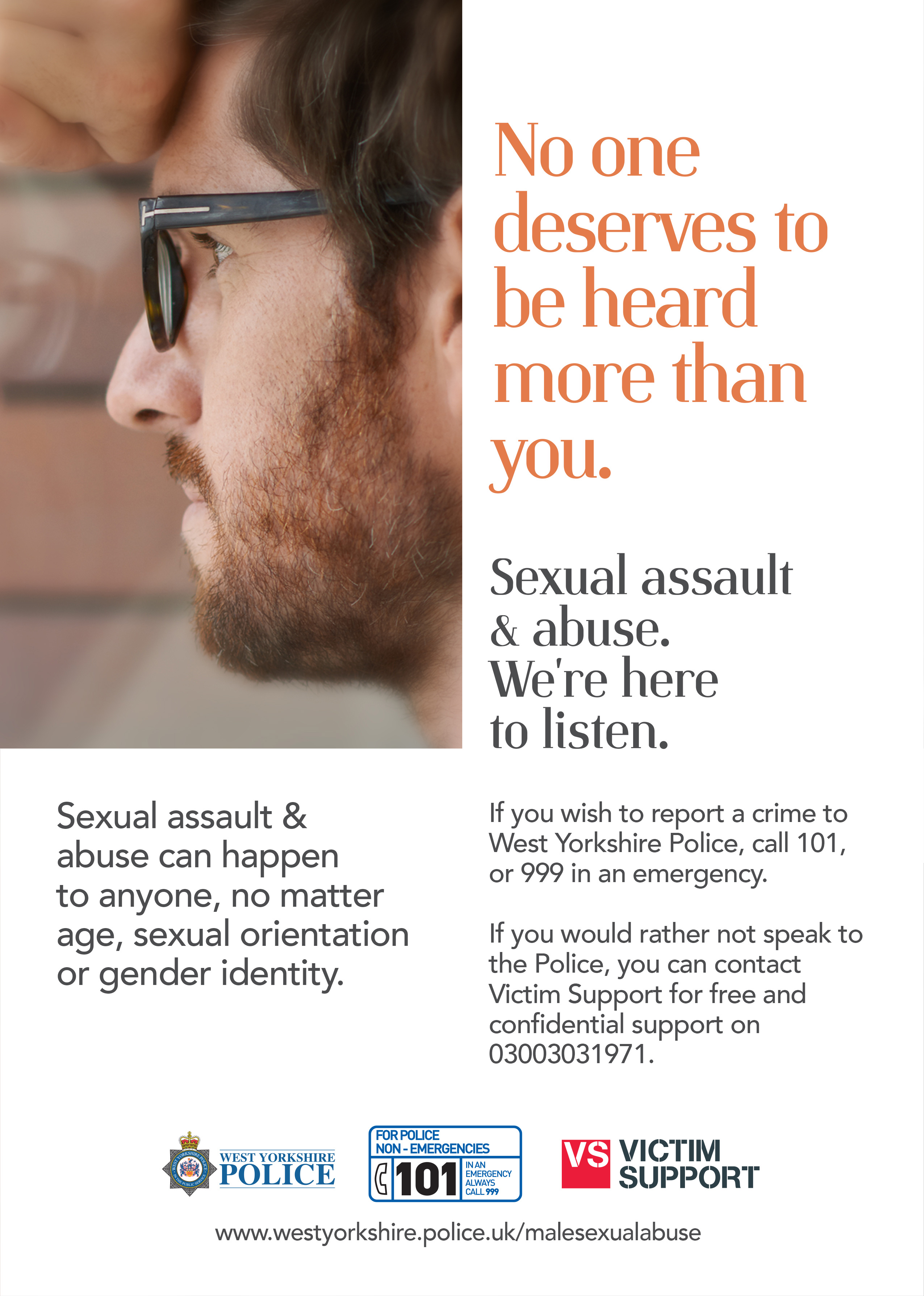 Male Victim Sexual Abuse Campaign - Poster 2