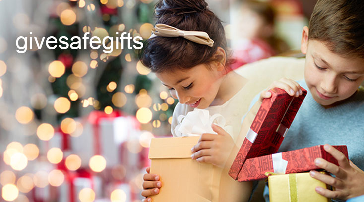 Give safe gifts web banner