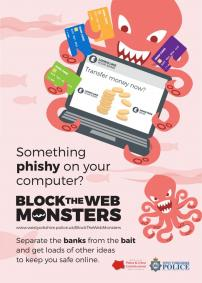 Block The  Web Monsters - Octopus - POSTER