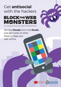Block The  Web Monsters - Spider - POSTER