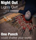 One Punch Can Kill Campaign Poster