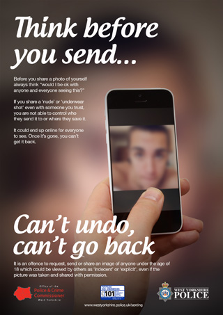 Think before you send (male) poster (JPEG)