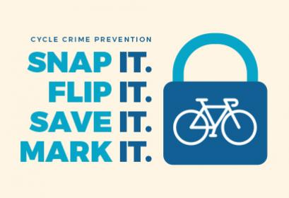 Snap it, Flip it, Save it, Mark it - cycle crime campaign