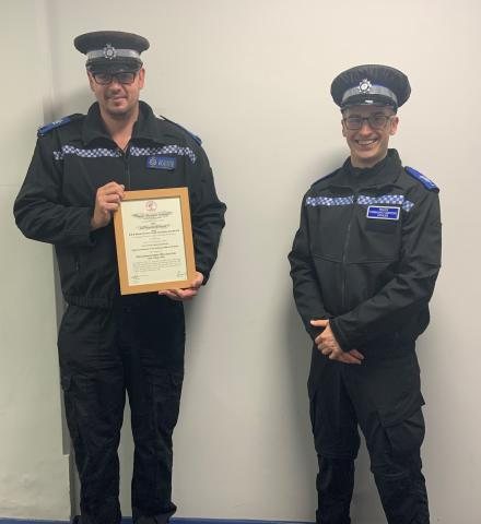 Image of PCSO James Clarke and Liam Dawes