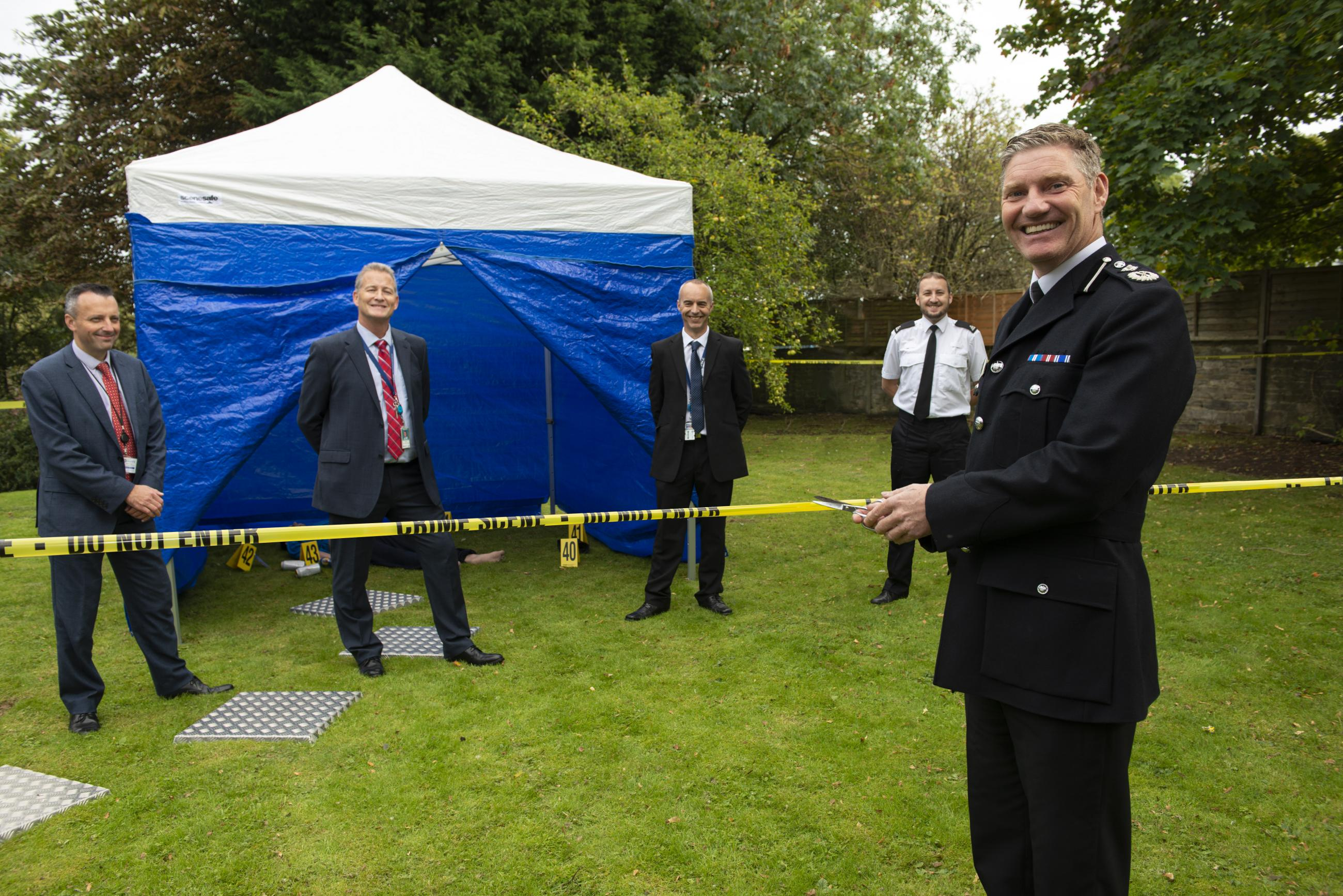 Deputy Chief Constable Russ Foster Opening the CSI Training Centre