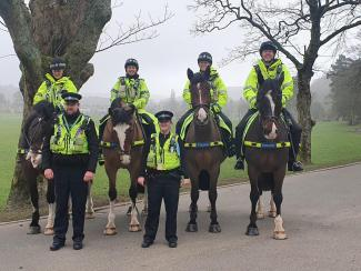 West Yorkshire Police Mounted Section Visit Todmorden, Horses and Riders