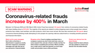 Action Fraud scams graphic