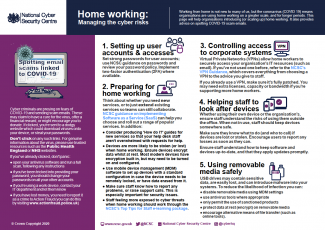 Home Working NCSC poster