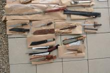 Weapons seized in this week's arrest operation.