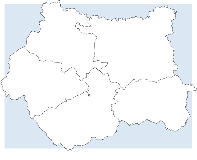 Map of West Yorkshire Police districts